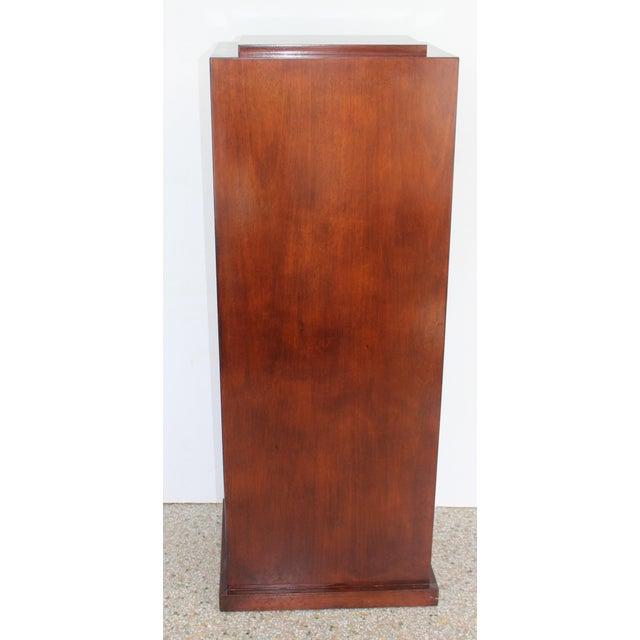 1990s Vintage Mahogany Pedestal For Sale - Image 5 of 13
