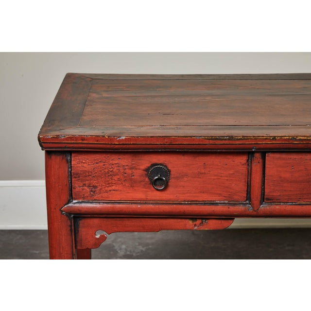 Metal 19th C. Cinnabar Lacquer Console For Sale - Image 7 of 9