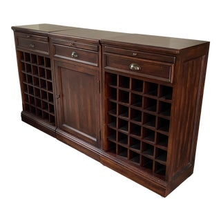 Pottery Barn Modular Bar Buffet With Wine Grids For Sale