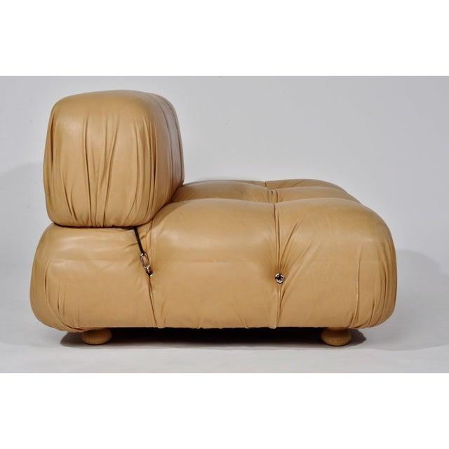 Animal Skin Mario Bellini 'Camaleonda' Chair and Ottoman, 1970s For Sale - Image 7 of 12