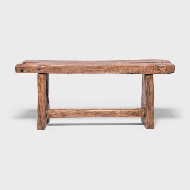 Made of wood reclaimed from 18th-century Chinese buildings, this contemporary bench honors the material with clean lines...