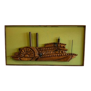 Witco Mid Century Ship Art For Sale
