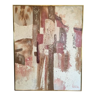 Vintage Stephen Kaye Abstract Oil Painting