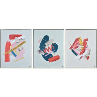 Catalyst Hand Painted Canvas Set - Set of 3 For Sale