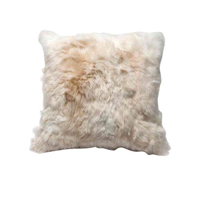 Alpaca Fur Throw Pillow For Sale
