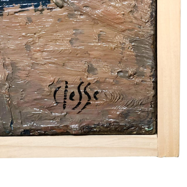 Abstract 20th Century Light Still Life of Books Painting by Daniel Clesse For Sale - Image 3 of 5