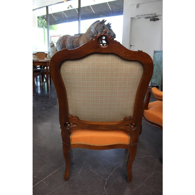 Antique Louis XV Style Armchair - a Pair For Sale - Image 11 of 13