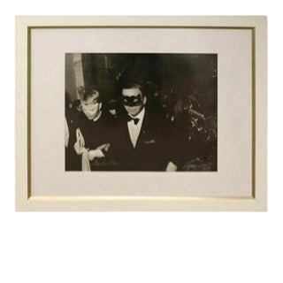 1966 Mid-Century Modern Framed Photograph Frank & Mia Signed by Harry Benson For Sale