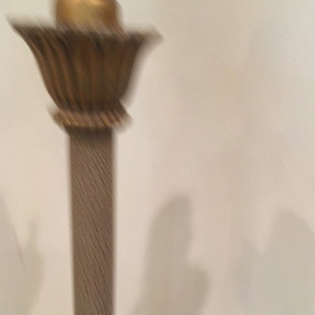Gilt Candlestick Lamps - A Pair - Image 7 of 8
