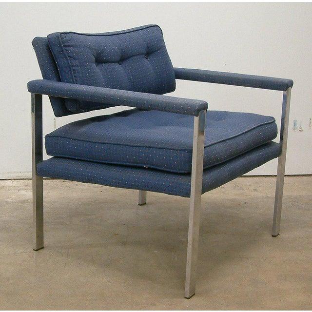 Milo Baughman for Thayer Coggin 1970s Milo Baughman for Thayer Coggin Lounge Chairs - a Pair For Sale - Image 4 of 9