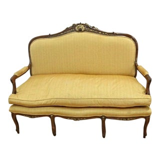 Louis XV Style Walnut Carved Loveseat For Sale