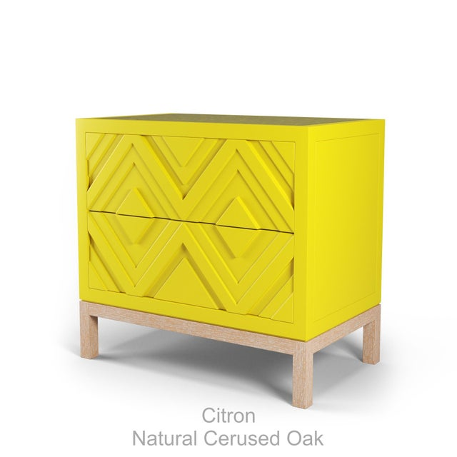Not Yet Made - Made To Order Susana Side Table - Citron, Natural Cerused Oak For Sale - Image 5 of 5