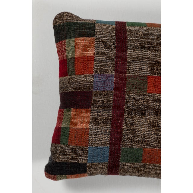 2010s Indian Handwoven Pillow in Japanese Stripe Design For Sale - Image 5 of 6
