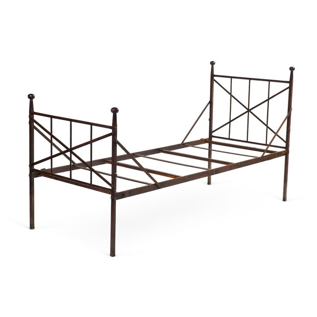 Brought to you by SF Designer Will Wick, this charming antique French iron daybed features a solid metal frame that can be...