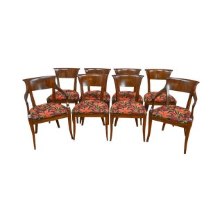 Regency Style Custom Quality Set of 8 Dining Chairs