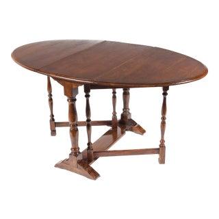 1930s English Gateleg Table For Sale