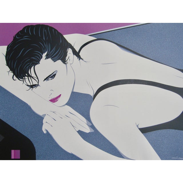 Contemporary 1980s Patrick Nagel Serigraph Style Signed Numbered Print For Sale - Image 3 of 6