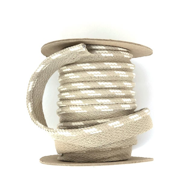 "Contemporary Braided 1/4"" Indoor/Outdoor Cord in White-Ecru For Sale - Image 3 of 11"
