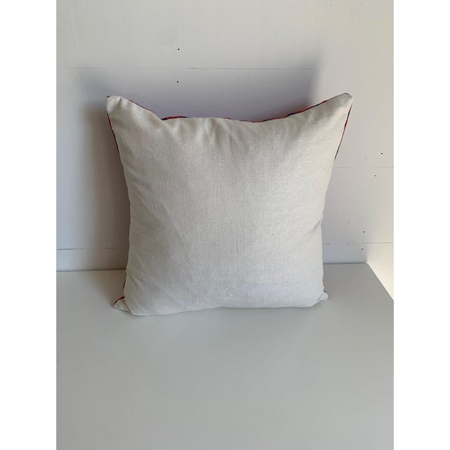 Set of 2 Peter Dunham 16x18 Red and Blue Pillow Covers. Covers only. Identical pieces.