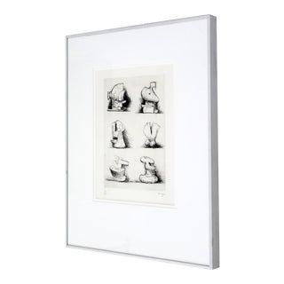 "Henry Moore Mid-Century Modern ""Six Sculpture Motives"" Print"