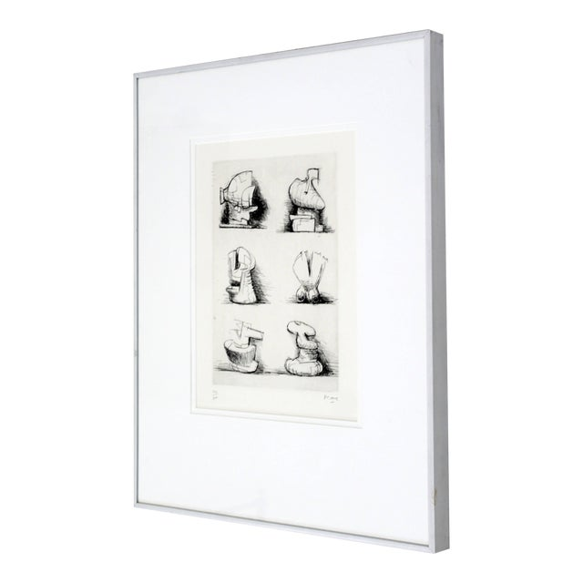 "Henry Moore Mid-Century Modern ""Six Sculpture Motives"" Print For Sale"
