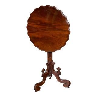 Mahogany Tripod Flip Top Table For Sale