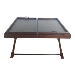 Stanley Wooden Tray Tops Coffee Table For Sale
