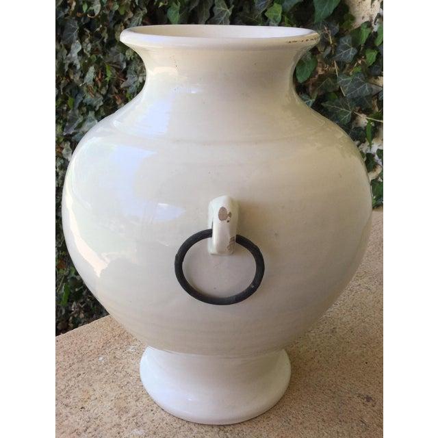 1990s Americana Pottery Barn White Stone Vase Chairish
