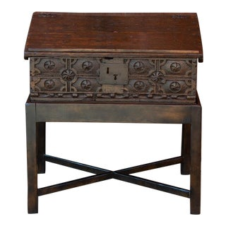 Vintage Writing Box on Stand For Sale