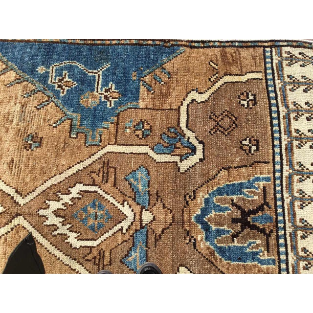 Blue Vintage Hand Knotted Anatolian Rug For Sale - Image 8 of 12