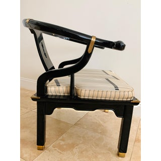 Vintage James Mont Style Ming Chair Black Lacquer Preview