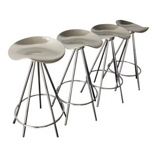 1990s Vintage Pepe Cortés for Knoll Jamaica Bar Stools - Set of 4 For Sale