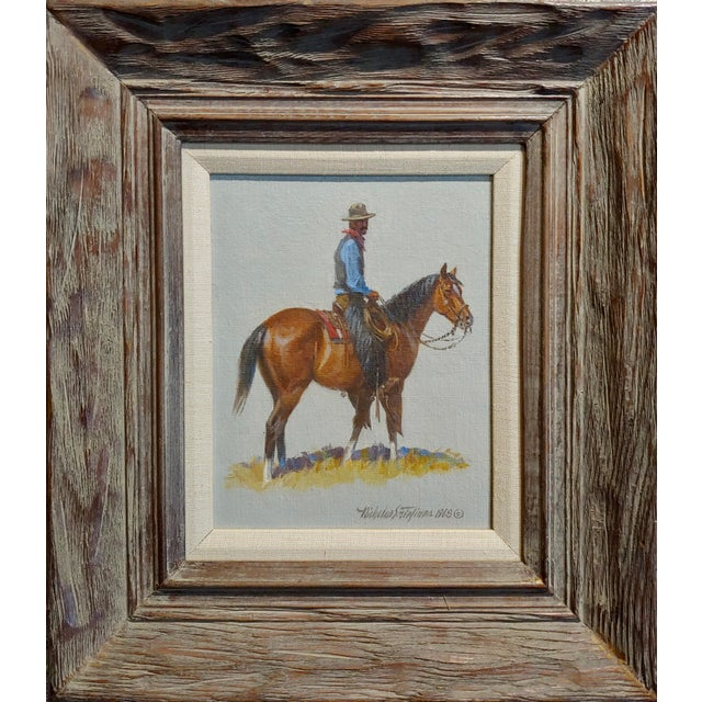 Nicholas Samuel Firfires -Cowboy - Western Oil Painting -1968 oil painting on canvas board -Signed and dated 1968 frame...