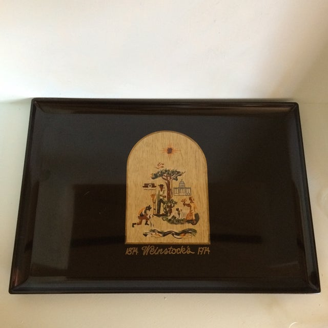 Special Vintage Couroc of Monterey Centennial Weinstocks Serving Tray For Sale - Image 13 of 13