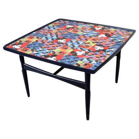 Mickey Mouse Mid-Century Coffee Table For Sale