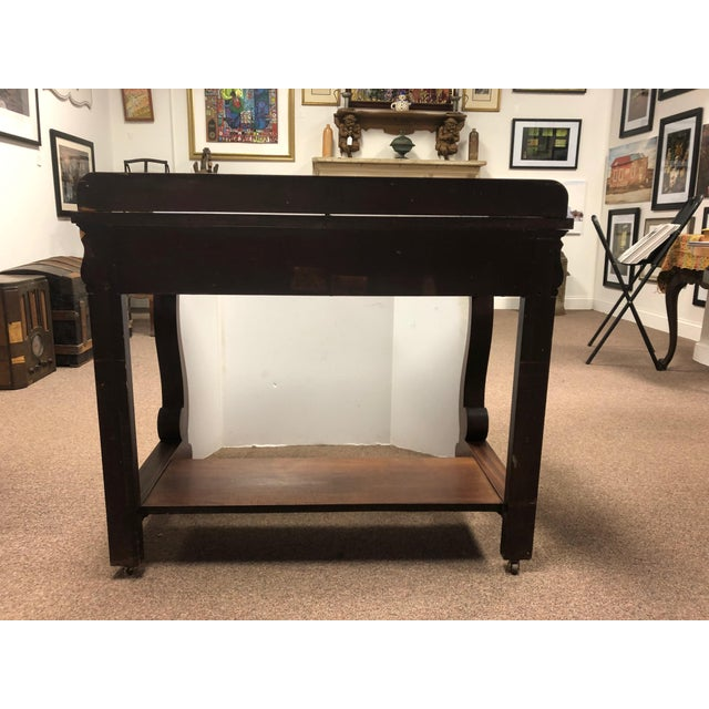 19th Century Early American Hersee Library Desk For Sale - Image 4 of 10