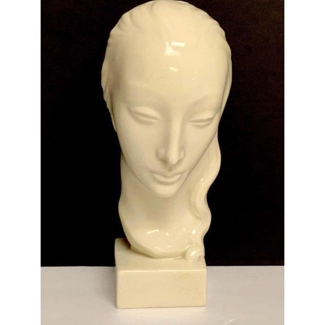 Geza De Vegh for Lenox Art Deco Portrait Bust of a Woman Sculpture For Sale - Image 12 of 13