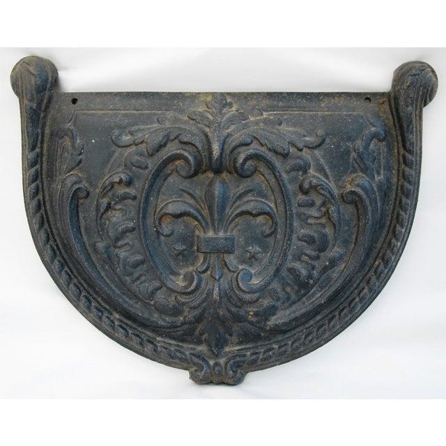 19th C. French Fleur-De-Lis Iron Relief Plaque - Image 2 of 8