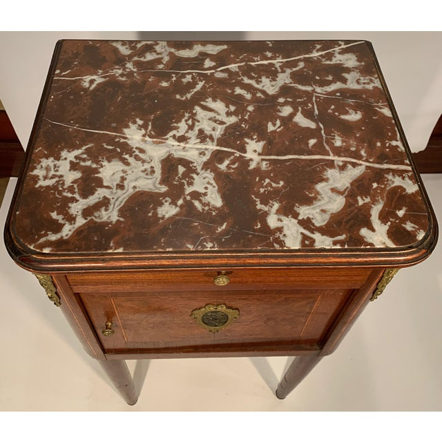 1900 - 1909 Antique French Bedside Cabinet For Sale - Image 5 of 9