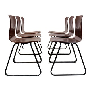 Brown Stackable Pagholz Galvanitas S22 Industrial Diner Chairs