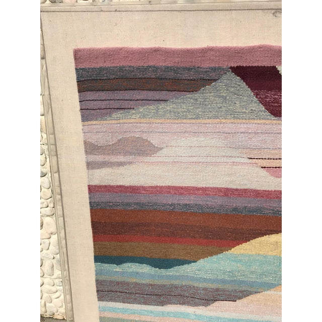 1980s Handwoven Abstract in Plexi Case From a Steve Chase Palm Springs Estate For Sale - Image 5 of 10