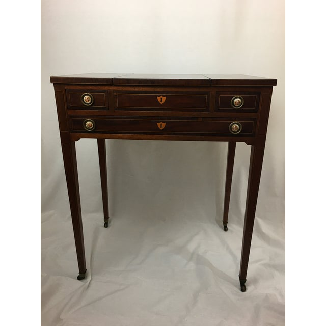 Early 20th Century Mahogany Vanity For Sale - Image 13 of 13