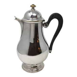 English Hotel Silver Teapot For Sale