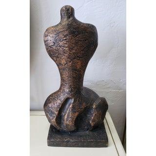 Mid-Century Modern Brutalist Female Sculpture Preview