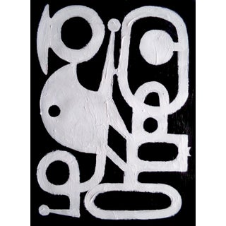 Original Abstract Black and White Painting by Brian Elston For Sale