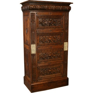 Antique French Chest of Drawers 1880 Renaissance For Sale