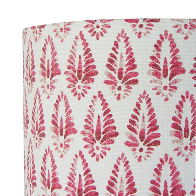 Red Patterned Lamp Shade For Sale - Image 4 of 5