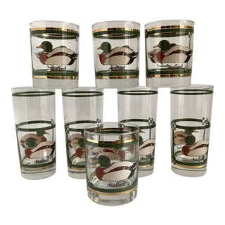 Vintage Mallard Duck Glasses - Set of 8