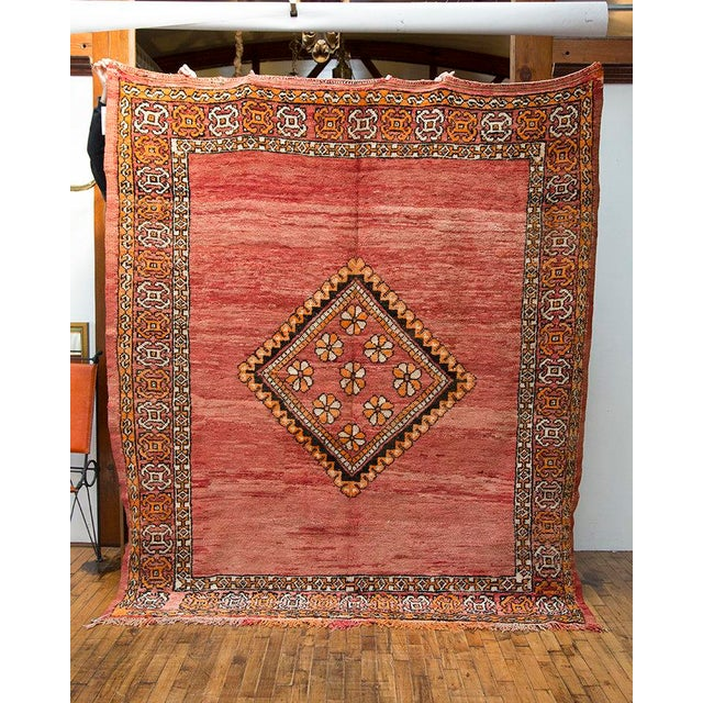 "Red Moroccan Taznakht Rug - 6'7"" X 8' - Image 3 of 8"