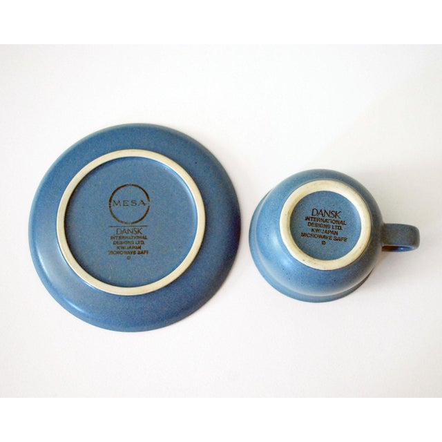 Vintage Dansk Mesa Blue Cup and Saucer - a Pair For Sale In Saint Louis - Image 6 of 7